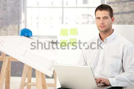 Portrait of smiling office girl Stock photo © nyul