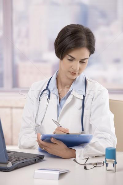 ストックフォト: 女性 · 医師 · 作業 · オフィス · 魅力的な