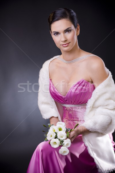 Woman in evening dress Stock photo © nyul