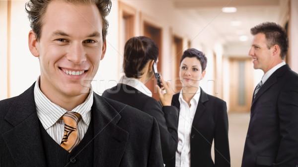 Stock photo: Businessman in hallway