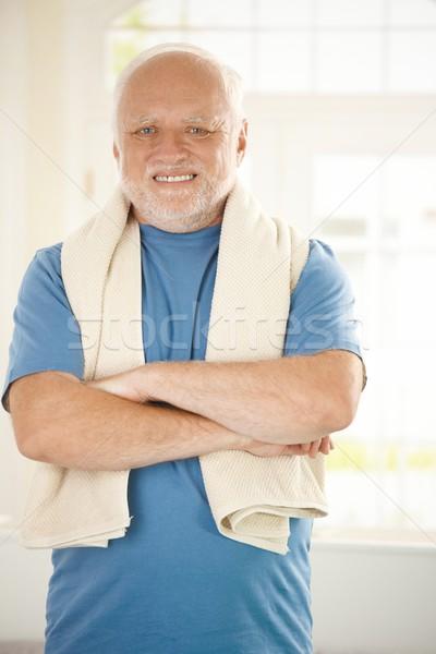 Portrait of active senior Stock photo © nyul