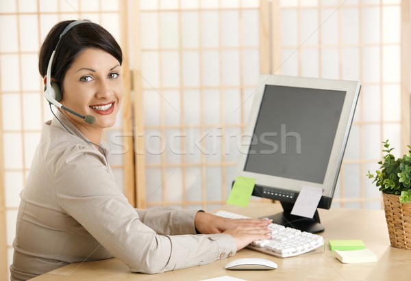 Young woman working at home Stock photo © nyul