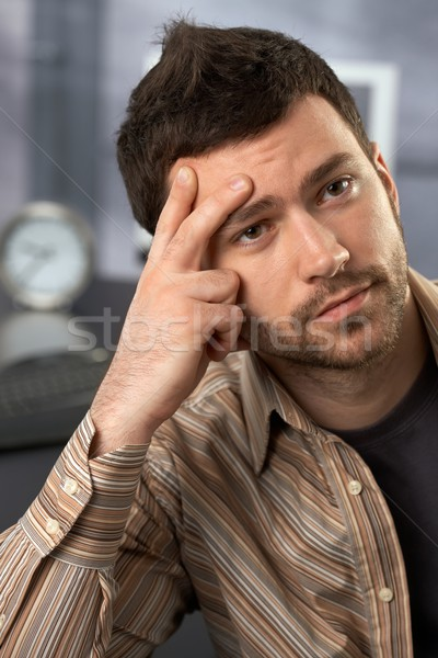Troubled office worker Stock photo © nyul
