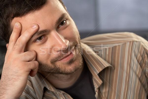 Portrait homme jeunes souriant Photo stock © nyul