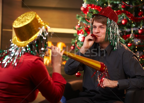 Happy couple at new year's eve Stock photo © nyul