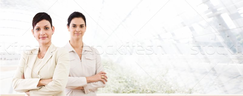 Business banner - two businesswomen Stock photo © nyul