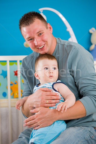Father and baby together Stock photo © nyul