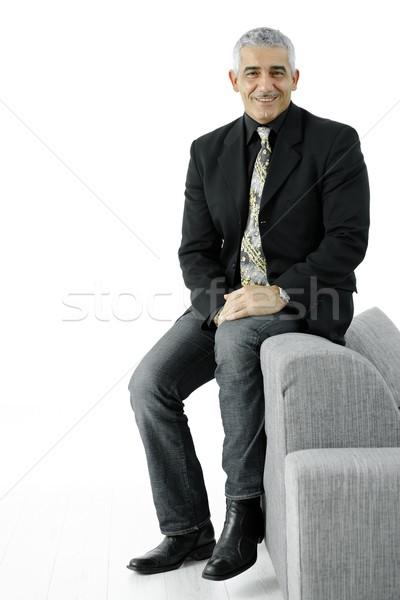 Сток-фото: портрет · бизнесмен · Creative · глядя · джинсов