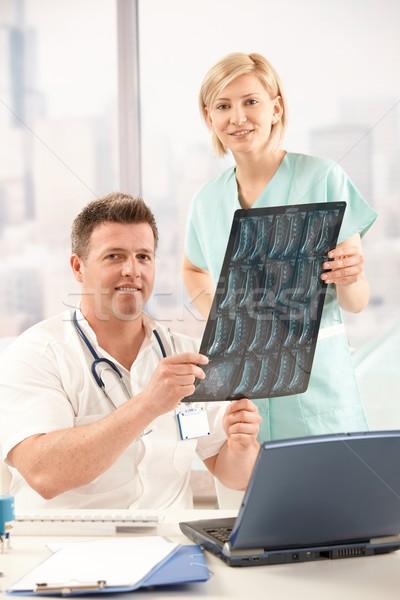 肖像 医師 看護 オフィス 笑みを浮かべて ストックフォト © nyul