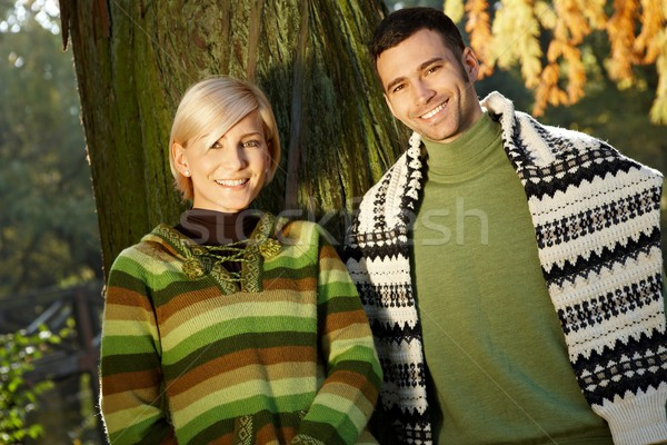 Smiling couple in nature Stock photo © nyul
