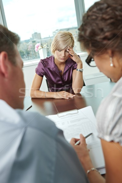 Worrying during job interview Stock photo © nyul