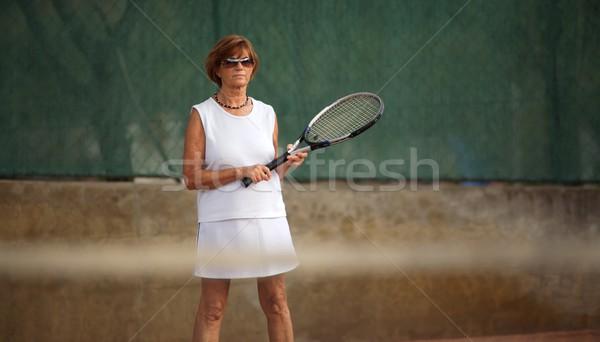 シニア 女性 テニス アクティブ 60年代 フィットネス ストックフォト © nyul
