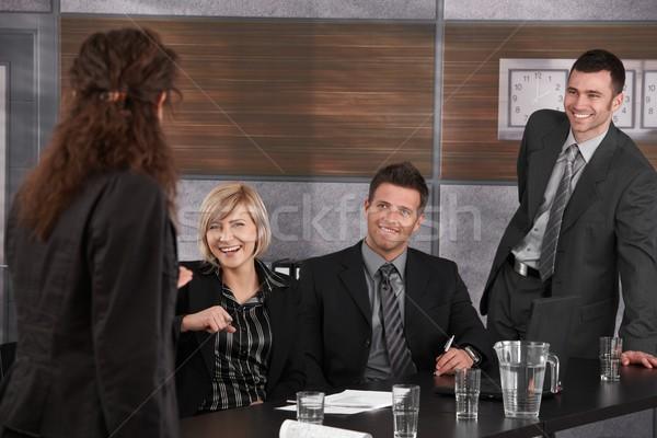 Business people having fun Stock photo © nyul