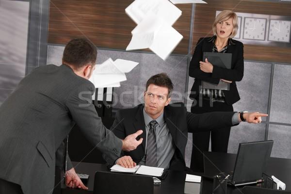 Trabajo enojado jefe empleado puerta Foto stock © nyul