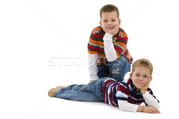 Jeunes garçons étage coloré Photo stock © nyul