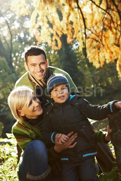 Young family in park Stock photo © nyul