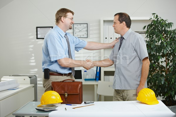 Architects shaking hands Stock photo © nyul