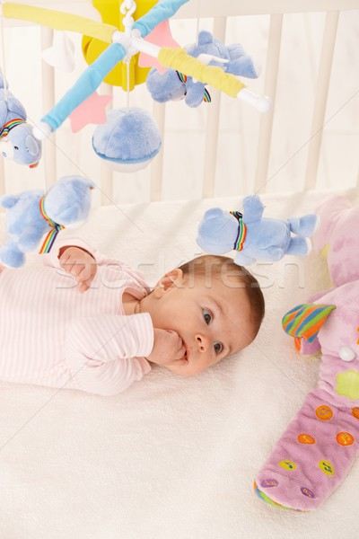 Baby girl with colorful toys Stock photo © nyul