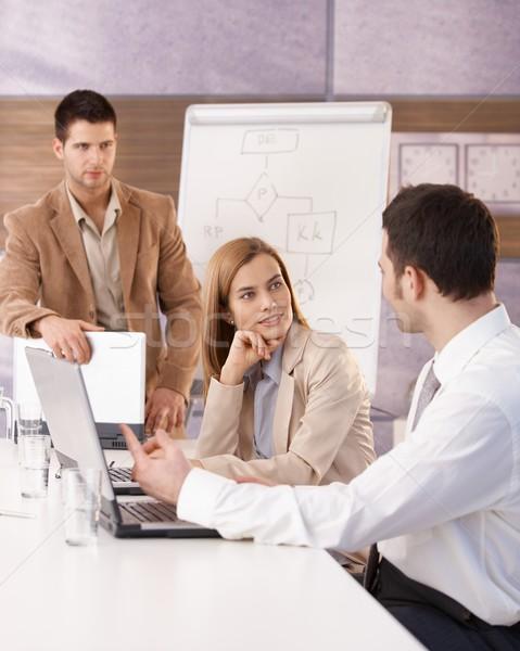 Young businessteam having training Stock photo © nyul