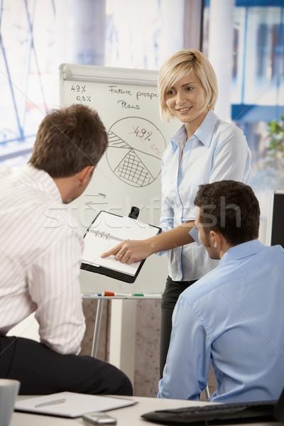 Businessteam working in office Stock photo © nyul