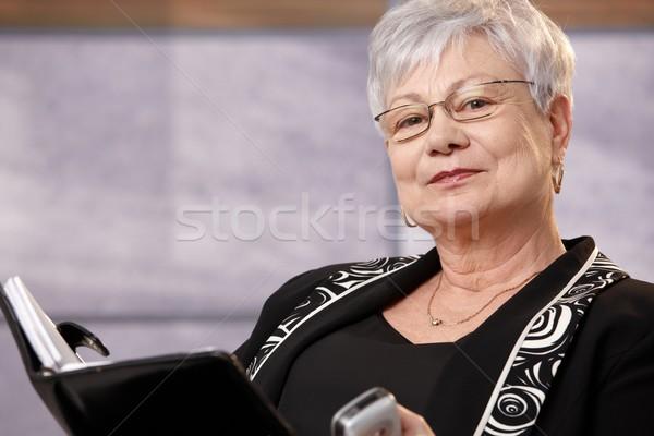 портрет активный старший женщину глядя Сток-фото © nyul