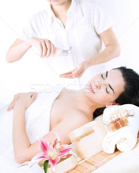Zdjęcia stock: Wellness · obraz · ciało · świetle · masażu · oleju