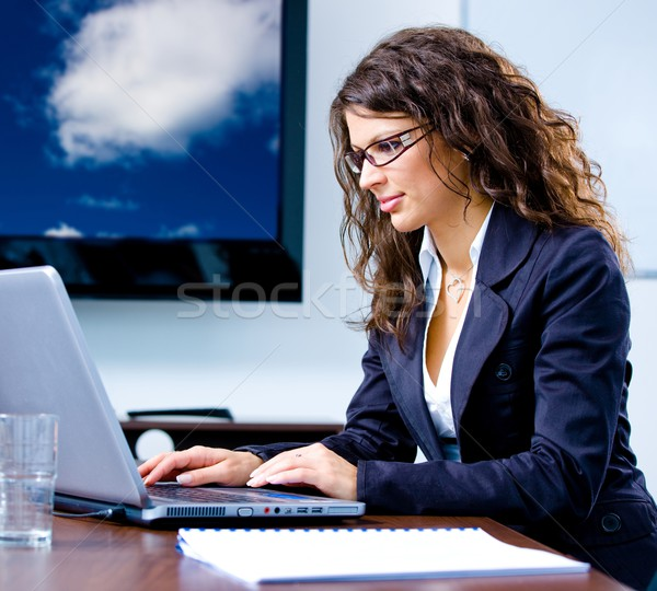 Businesswoman working on computer Stock photo © nyul