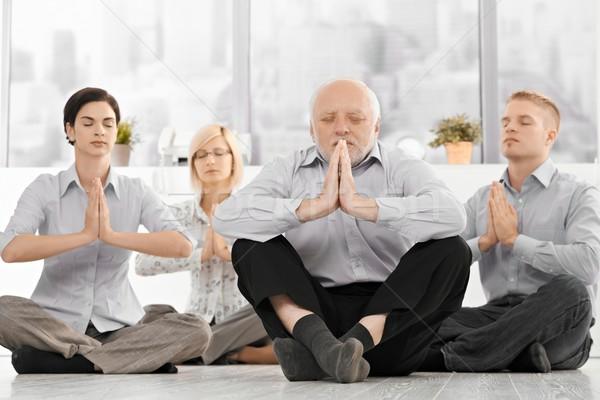 ストックフォト: ヨガ · 瞑想 · 着用 · 服