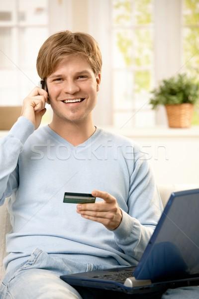 Man talking on phone  Stock photo © nyul