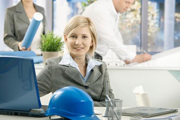 Mid-adult designer in architect office Stock photo © nyul