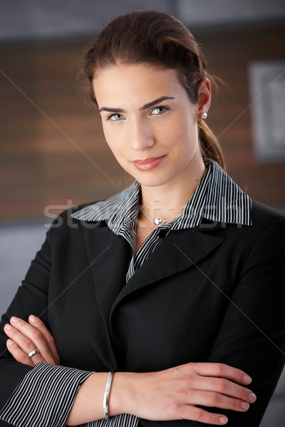Portrait of attractive female smiling Stock photo © nyul