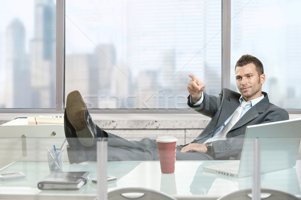 Businessman pointing Stock photo © nyul