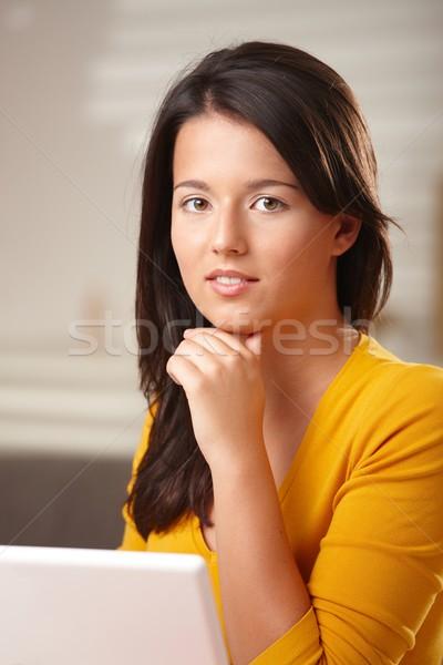Portrait of smiling teenage girl Stock photo © nyul