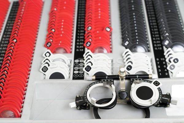 Gözlükçü ayarlamak önemli araç göz doktor Stok fotoğraf © nyul