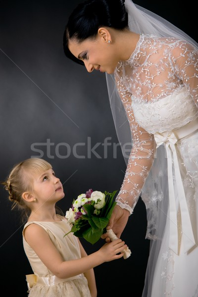 Bride and bridesmaid Stock photo © nyul