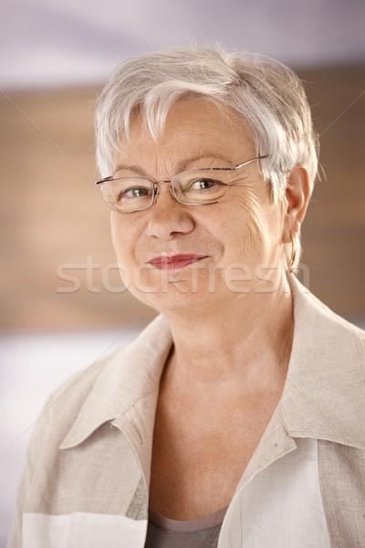 Stockfoto: Portret · bril · gelukkig · naar