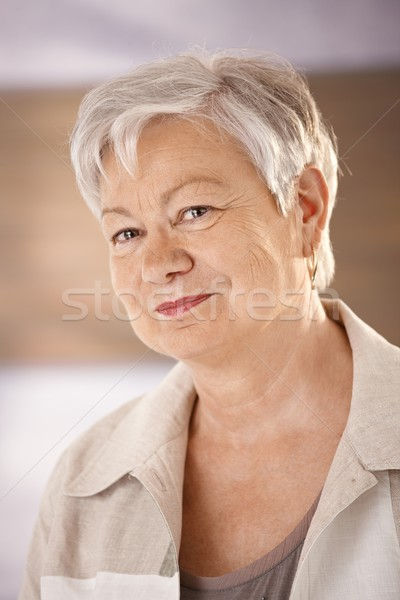 Stock photo: Portrait of female pensioner