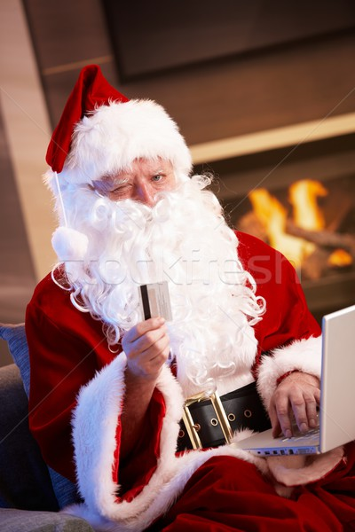 Santa Claus purchasing on internet Stock photo © nyul
