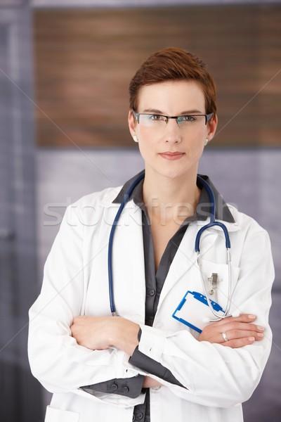 小さな 医療 医師 立って オフィス ユニフォーム ストックフォト © nyul