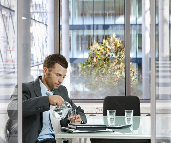 üzletember tárgyalóterem vár modern vállalati iroda Stock fotó © nyul