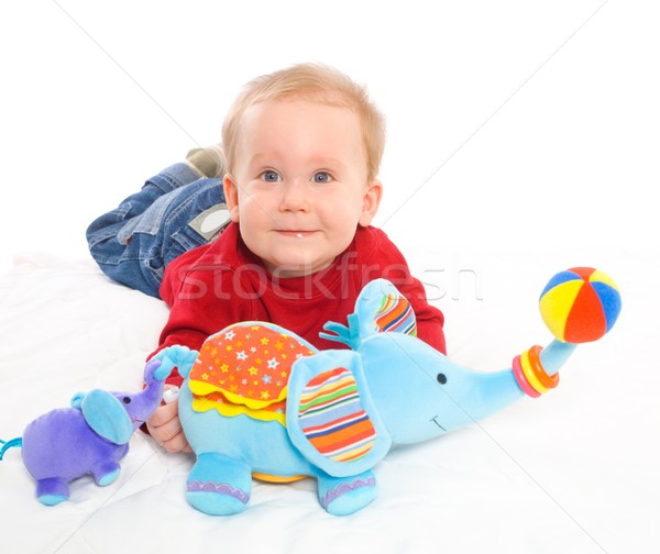 Baby jongen spelen speelgoed gelukkig maanden Stockfoto © nyul