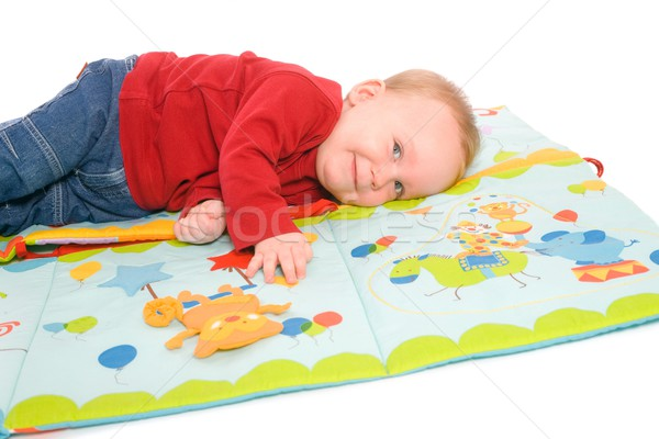 Baby boy playing with toys Stock photo © nyul