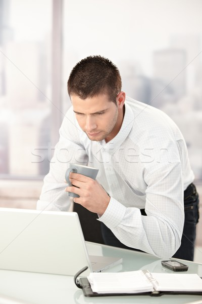 Young businessman busy by working Stock photo © nyul