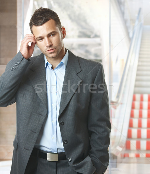 Troubled businessman Stock photo © nyul