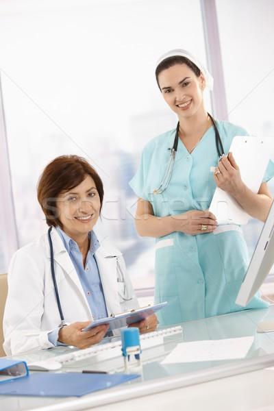 肖像 医師 看護 作業 クリップボード ストックフォト © nyul