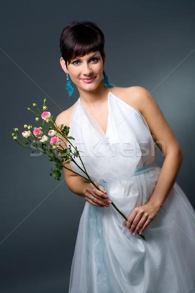Bride in wedding dress Stock photo © nyul