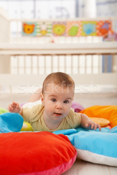 Sweet baby on playmat Stock photo © nyul