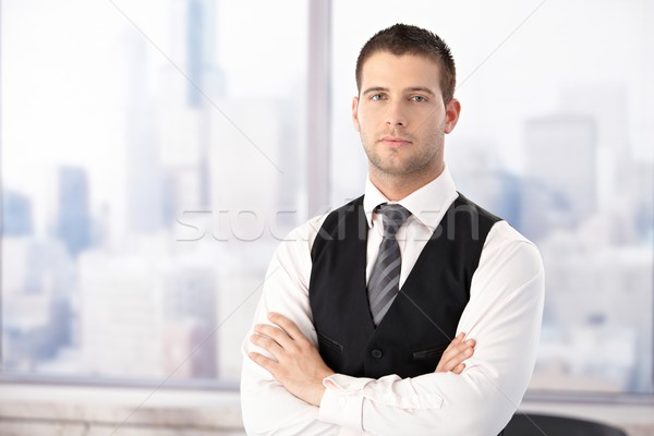 Portrait of handsome businessman in office Stock photo © nyul
