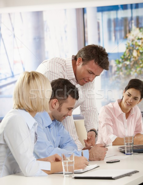 People in business meeting at office Stock photo © nyul