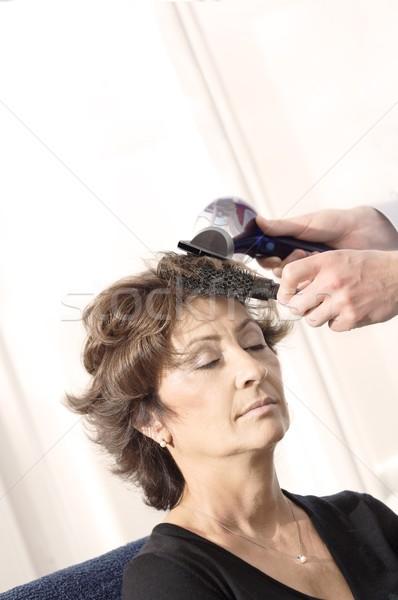 Senior woman having haircut Stock photo © nyul